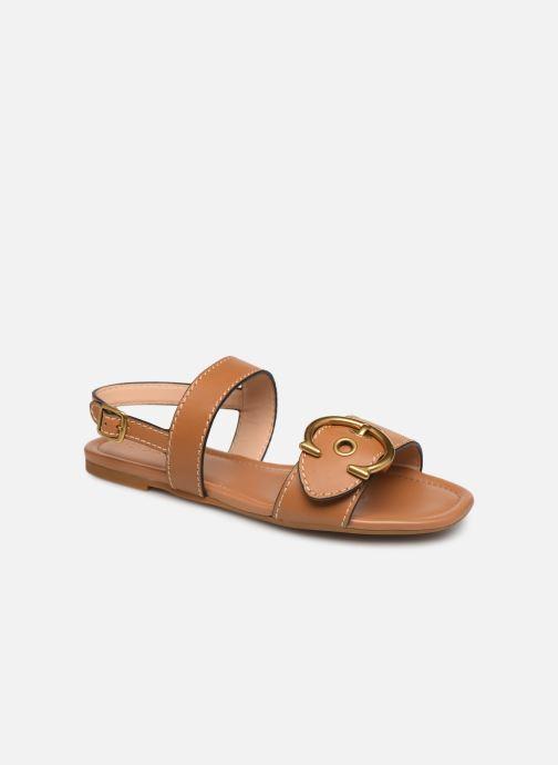 Sandales et nu-pieds Coach Jen Buckle Sandal Marron vue détail/paire