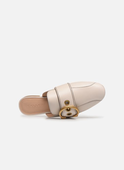 Mules & clogs Coach Sullivan Buckle Loafer Beige view from the left