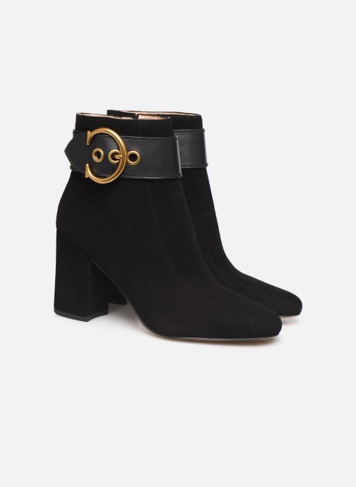 Ankle boots Coach Dara Buckle Bootie- Suede Black 3/4 view