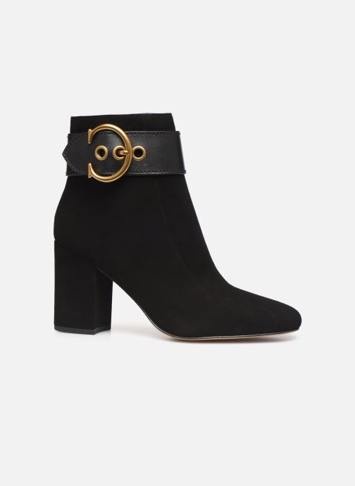 Ankle boots Coach Dara Buckle Bootie- Suede Black back view