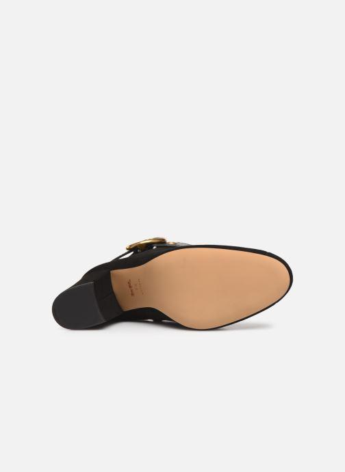 Bottines et boots Coach Dara Buckle Bootie- Suede Noir vue haut