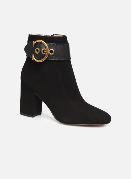 Ankle boots Coach Dara Buckle Bootie- Suede Black detailed view/ Pair view