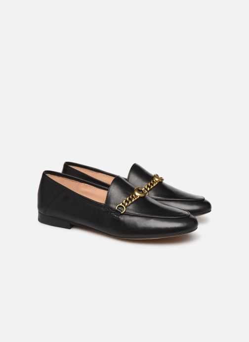 Mocasines Coach Helena Chain Loafer Negro vista 3/4