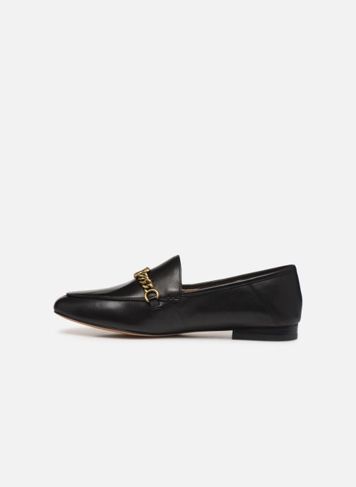 Mocasines Coach Helena Chain Loafer Negro vista de frente