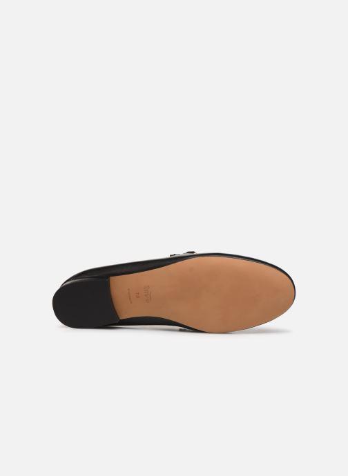 Mocassins Coach Helena Chain Loafer Noir vue haut