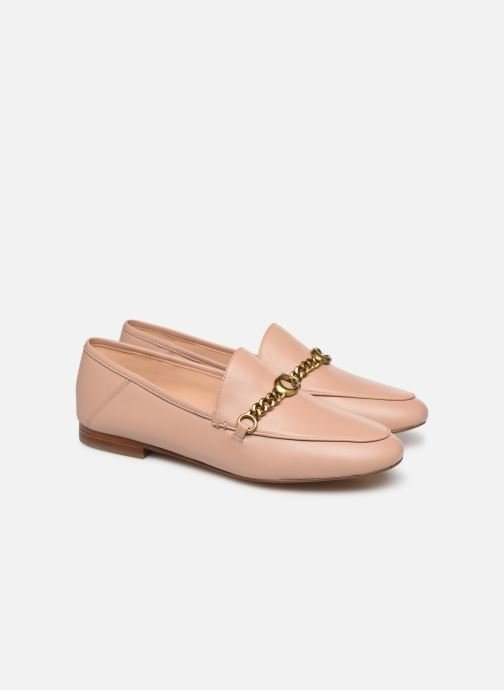 Mocassins Coach Helena Chain Loafer Rose vue 3/4