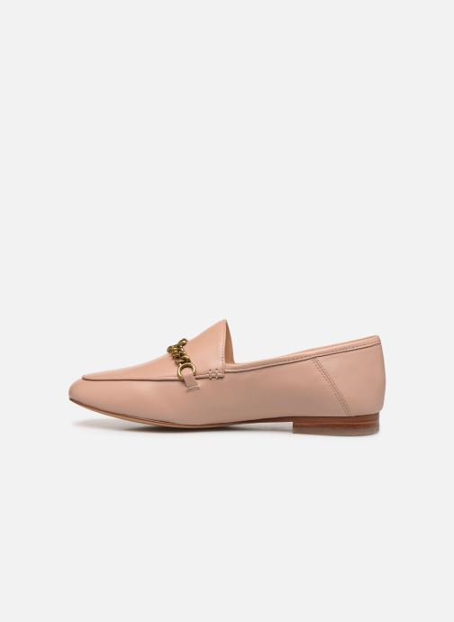Mocassins Coach Helena Chain Loafer Rose vue face
