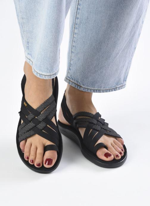 Sandali e scarpe aperte Teva Voya Strappy W Nero immagine dal basso