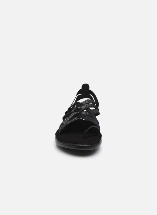 Sandalen Teva Voya Strappy W schwarz schuhe getragen