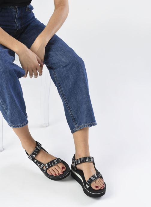 Sandali e scarpe aperte Teva Flatform Universal W Nero immagine dal basso