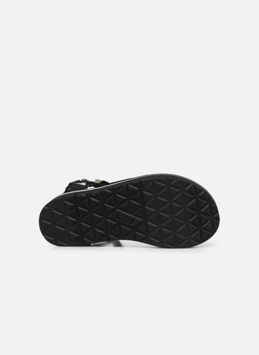 Sandali e scarpe aperte Teva Flatform Universal W Nero immagine dall'alto