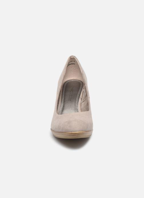 Zapatos de tacón Marco Tozzi MEMA Beige vista del modelo