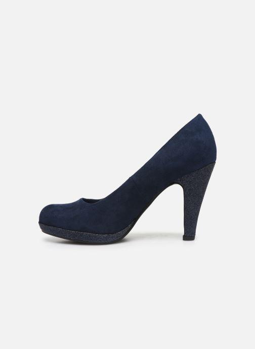 Zapatos de tacón Marco Tozzi MEYLIS Azul vista de frente