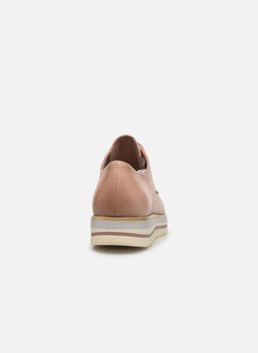 Zapatos con cordones Marco Tozzi MIARO Rosa vista lateral derecha