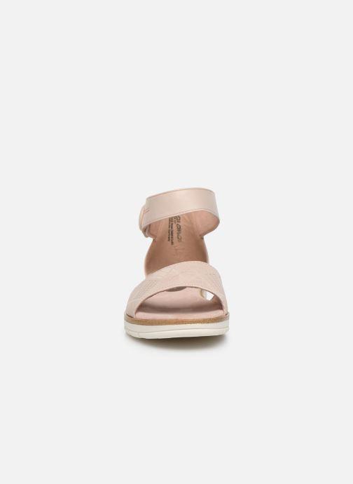 Sandales et nu-pieds Marco Tozzi MUJDA Rose vue portées chaussures