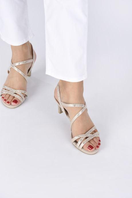 Sandales et nu-pieds Marco Tozzi MARLI Or et bronze vue bas / vue portée sac