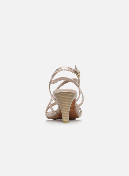 Sandales et nu-pieds Marco Tozzi MARLI Or et bronze vue droite