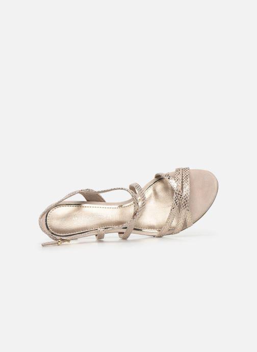Sandales et nu-pieds Marco Tozzi MARLI Or et bronze vue gauche