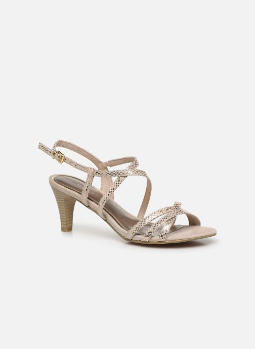 Sandales et nu-pieds Marco Tozzi MARLI Or et bronze vue détail/paire