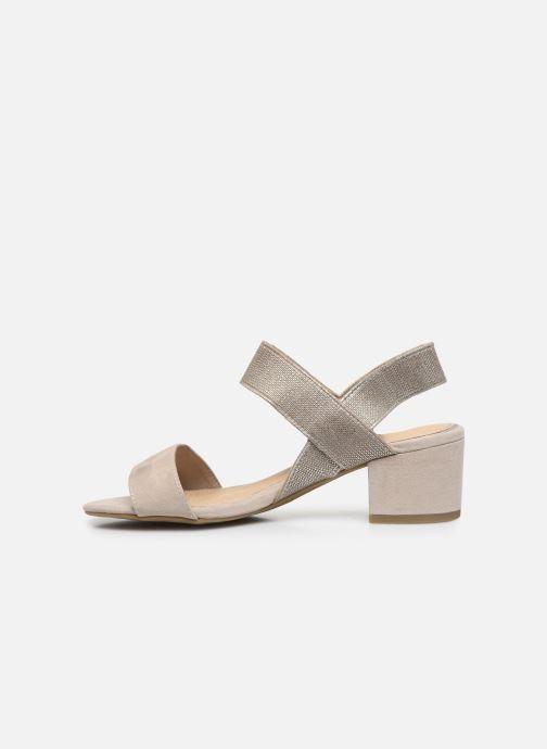 Sandales et nu-pieds Marco Tozzi MALOU Beige vue face