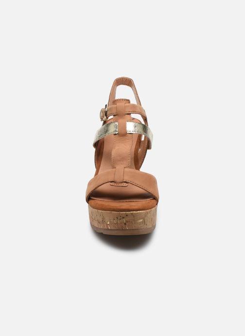 Sandales et nu-pieds Marco Tozzi MAME Marron vue portées chaussures