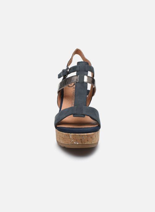 Sandali e scarpe aperte Marco Tozzi MAME Azzurro modello indossato
