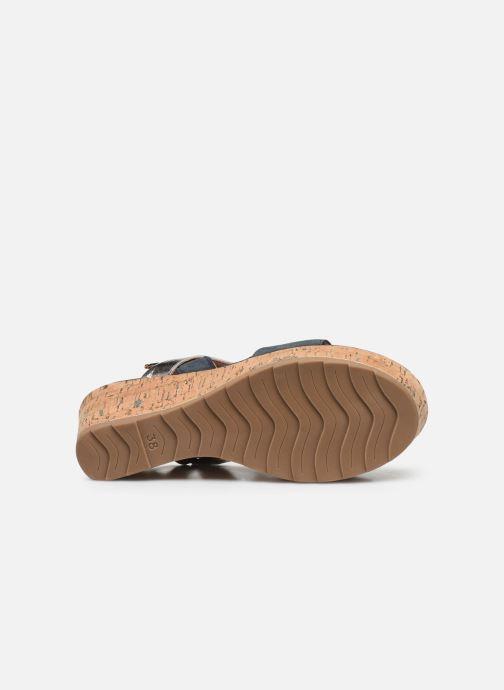 Sandali e scarpe aperte Marco Tozzi MAME Azzurro immagine dall'alto
