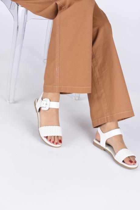 Sandalen Marco Tozzi MIAKO weiß ansicht von unten / tasche getragen