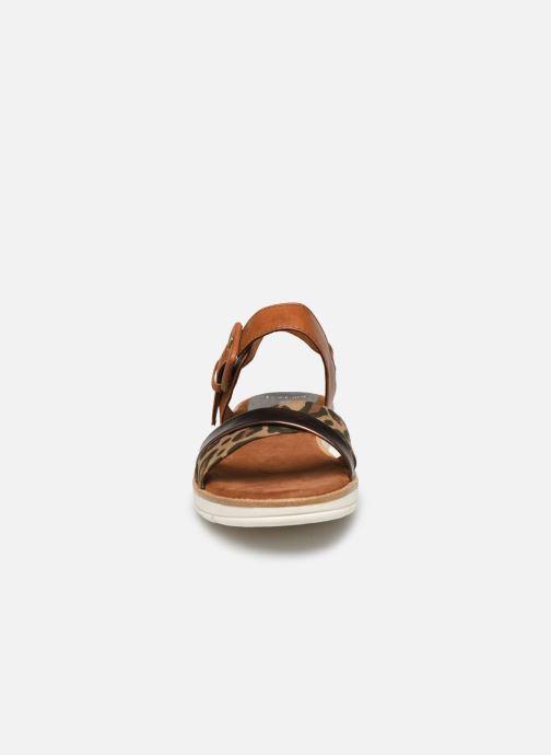 Sandali e scarpe aperte Marco Tozzi MERONE Marrone modello indossato