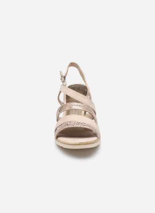 Sandali e scarpe aperte Marco Tozzi MERIEM Beige modello indossato