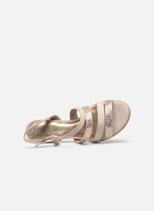 Sandali e scarpe aperte Marco Tozzi MERIEM Beige immagine sinistra
