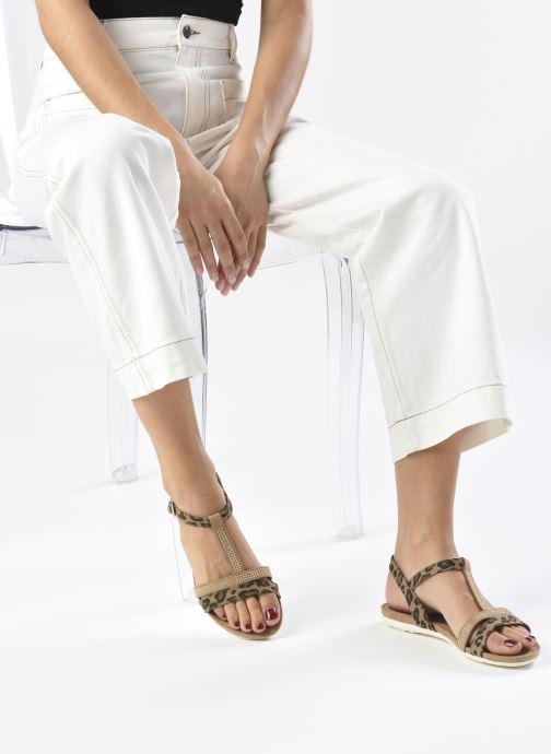 Sandalen Marco Tozzi MUTLU braun ansicht von unten / tasche getragen