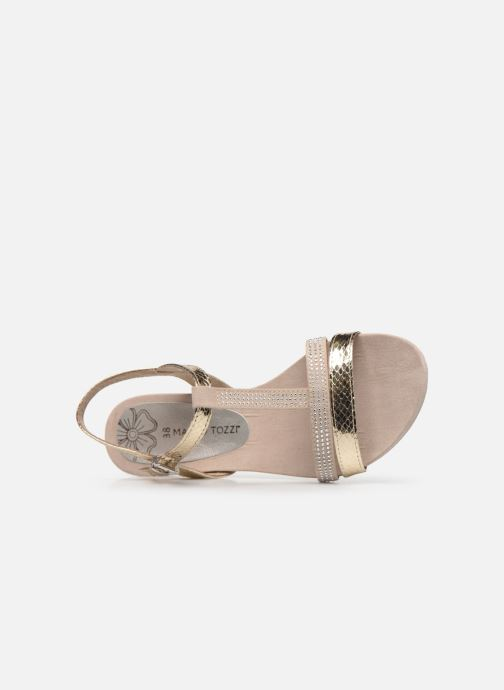 Sandali e scarpe aperte Marco Tozzi MUTLU Oro e bronzo immagine sinistra