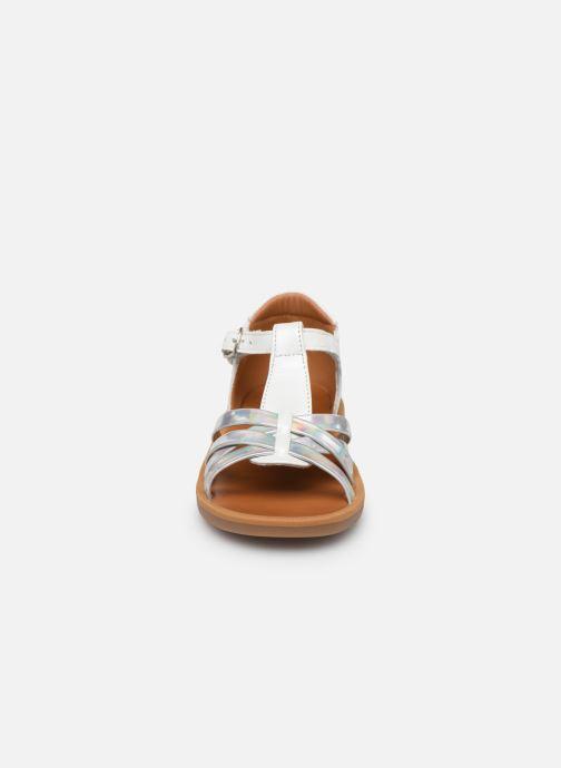 Sandales et nu-pieds Pom d Api Poppy Back Neptune Argent vue portées chaussures