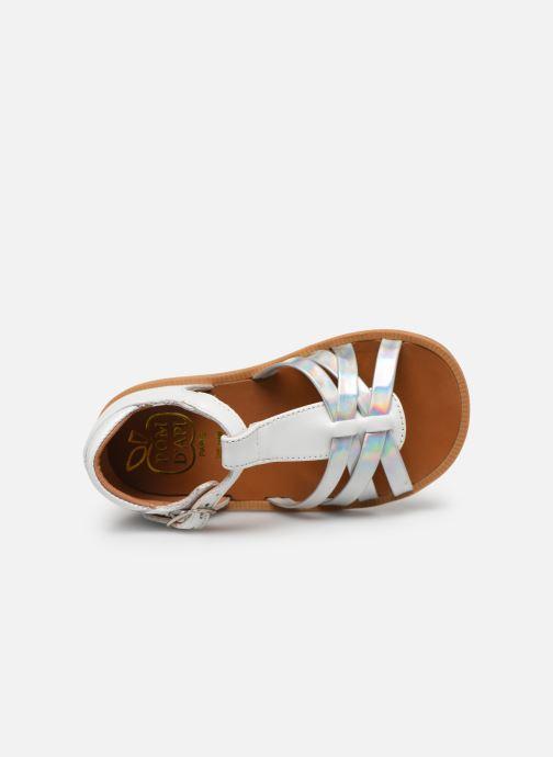 Sandales et nu-pieds Pom d Api Poppy Back Neptune Argent vue gauche