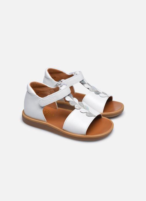 Sandali e scarpe aperte Pom d Api Poppy Ferns Bianco immagine 3/4
