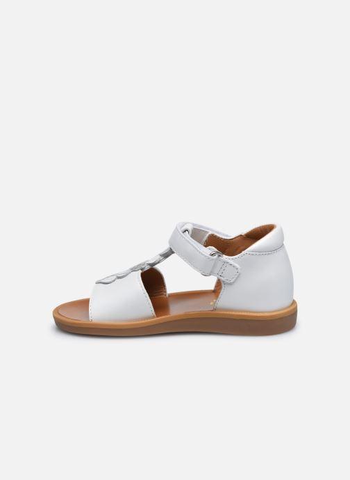 Sandali e scarpe aperte Pom d Api Poppy Ferns Bianco immagine frontale