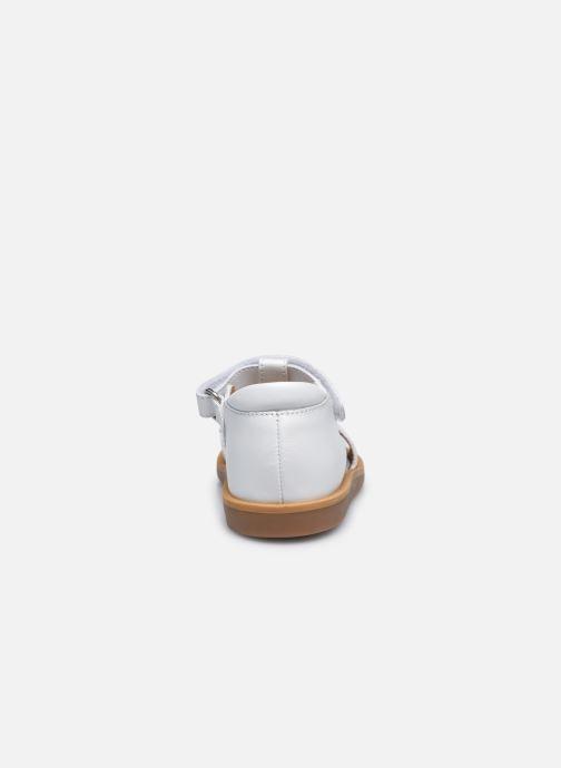 Sandali e scarpe aperte Pom d Api Poppy Ferns Bianco immagine destra