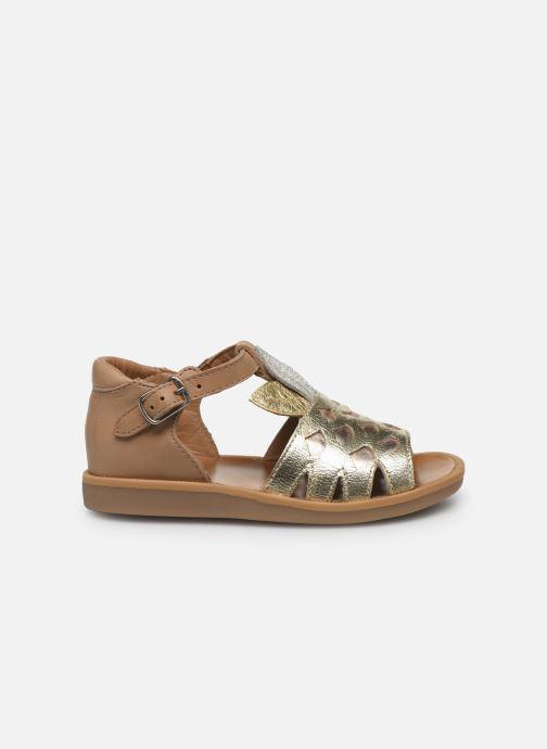 Sandales et nu-pieds Pom d Api Poppy Ananas Or et bronze vue derrière
