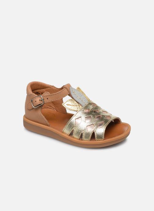 Sandales et nu-pieds Pom d Api Poppy Ananas Or et bronze vue détail/paire