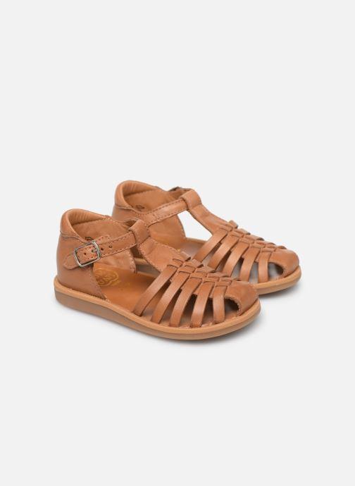Sandales et nu-pieds Pom d Api Poppy Pitti Marron vue 3/4