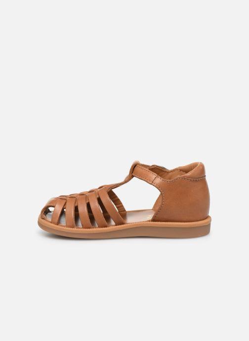Sandales et nu-pieds Pom d Api Poppy Pitti Marron vue face