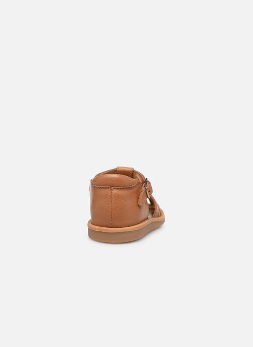 Sandales et nu-pieds Pom d Api Poppy Pitti Marron vue droite