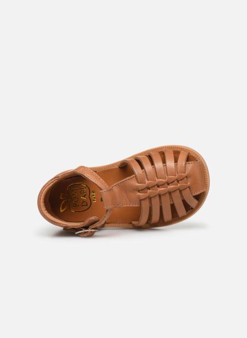 Sandales et nu-pieds Pom d Api Poppy Pitti Marron vue gauche
