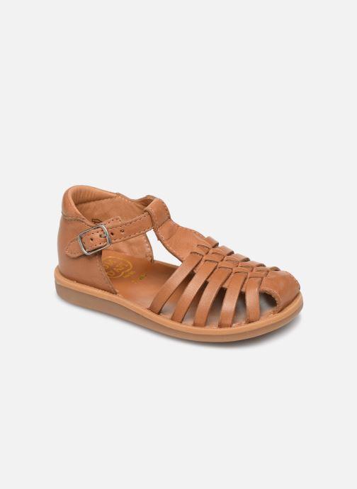 Sandales et nu-pieds Pom d Api Poppy Pitti Marron vue détail/paire
