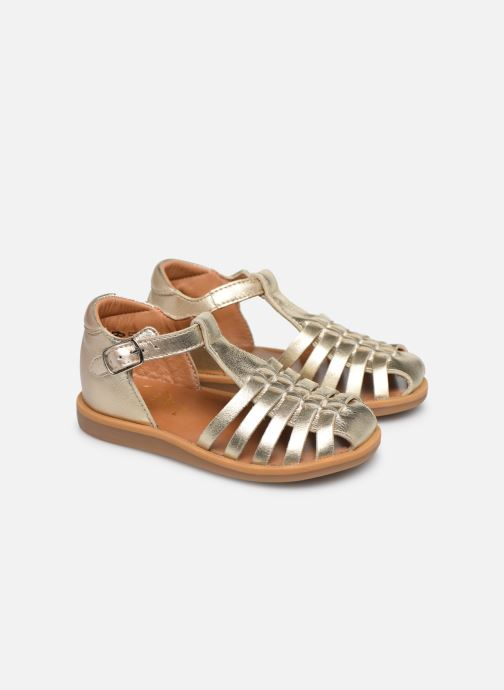 Sandales et nu-pieds Pom d Api Poppy Pitti Or et bronze vue 3/4