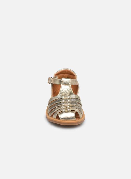 Sandales et nu-pieds Pom d Api Poppy Pitti Or et bronze vue portées chaussures