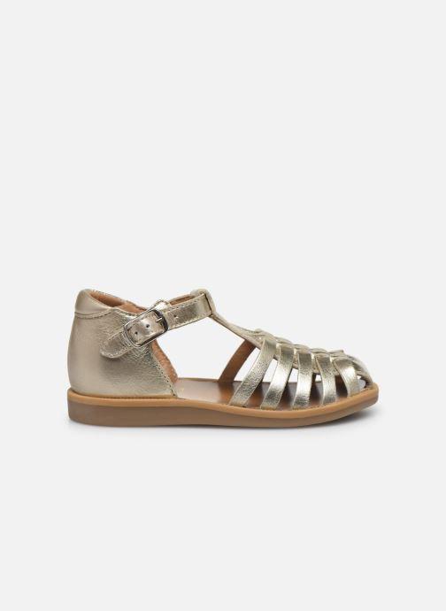 Sandales et nu-pieds Pom d Api Poppy Pitti Or et bronze vue derrière