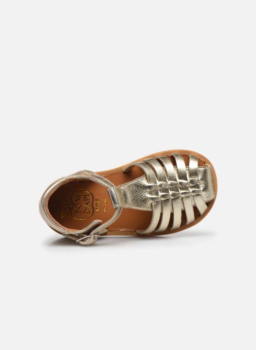 Sandales et nu-pieds Pom d Api Poppy Pitti Or et bronze vue gauche