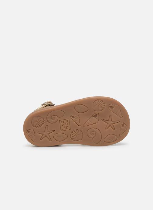Sandales et nu-pieds Pom d Api Poppy Pitti Or et bronze vue haut